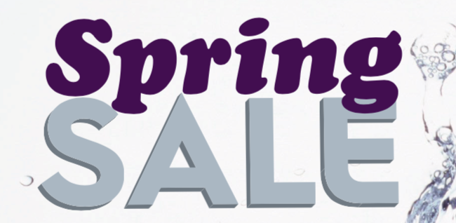 spring commercial equipment sale